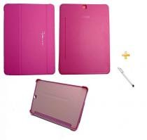 Capa Smart Book Case Galaxy Tab S2 - 9.7 T810/815 / Caneta Touch (Rosa) - BD Net Imports