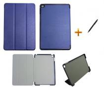Capa Smart Case para iPad Mini 4 / Capa Traseira / Caneta Touch (Azul Escuro) - Skin t18
