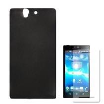 Capa Sony Xperia Z L36H Tpu Grafite Com PelíCula Protetora - Diamant