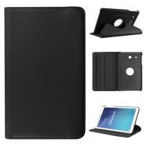 Capa Tablet C/ Suporte Giratório Samsung Galaxy Tab E 9.6 T560 T561 - Cor Preta - Importado