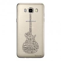Capa Transparente Exclusiva Samsung Galaxy J7 2016 Guitarra - TP39 -