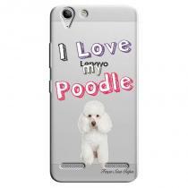 Capa transparente personalizada exclusiva lenovo vibe k5 k5 plus a6020 eu amo meu poodle - tp82 -