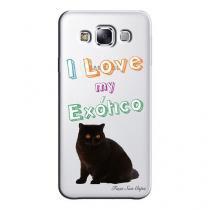 Capa Transparente Personalizada Exclusiva Samsung Galaxy E5 E500 E500H E500HQ E500M Exótico - TP91 -