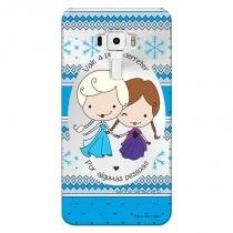 Capa Transparente Personalizada para Asus Zenfone 3 5.7 Deluxe ZS570KL Princesas Elsa e Ana - TP125 - Asus
