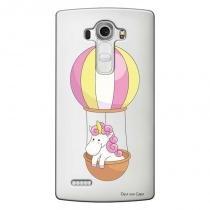 Capa Transparente Personalizada para LG G4 Beat H736P Unicórnio no Balão - TP308 - LG