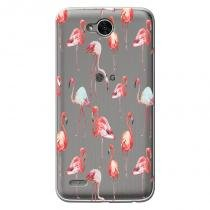 Capa Transparente Personalizada para LG K10 Power M320TV Flamingos - TP315 - LG