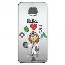Capa Transparente Personalizada para Moto Z Play 5.5 XT1635 Médica - TP213 - Motorola