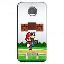 Capa Transparente Personalizada para Moto Z Play 5.5 XT1635 Super Mario - TP123 - Motorola