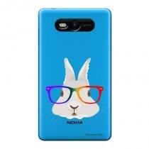 Capa Transparente Personalizada para Nokia Lumia N820 Coelho - TP239 - Nokia