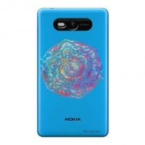 Capa Transparente Personalizada para Nokia Lumia N820 Mandala - TP256 - Nokia
