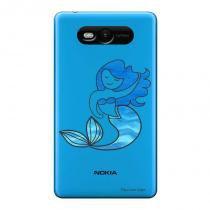 Capa Transparente Personalizada para Nokia Lumia N820 Sereia - TP301 - Nokia