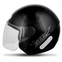 Capacete Aberto EBF Shield Solid Preto Brilhante - Ebf capacetes