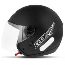 Capacete Aberto EBF Shield Solid Preto Fosco - Ebf capacetes