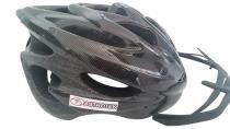 Capacete adulto para ciclismo com viseira ptk - Preto - Ptk