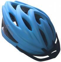 Capacete Adulto Para Ciclismo Fosco Com Viseira - Azul - Astrotek