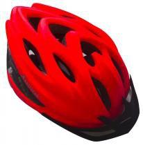 Capacete Adulto Para Ciclismo Fosco Com Viseira - Laranja - Astrotek