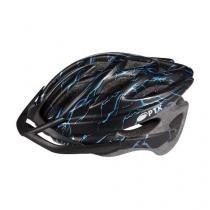 Capacete adulto para ciclismo runner com viseira ptk - Azul - Ptk