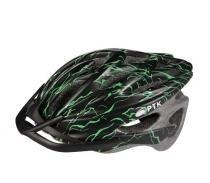 Capacete adulto para ciclismo runner com viseira ptk - Verde - Ptk