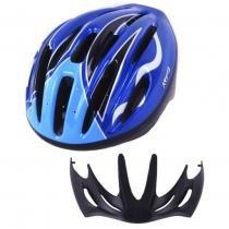 Capacete Bike Kripta Adulto Laser Azul -