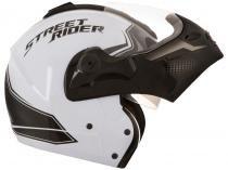Capacete Capitiva Street Rider Mixs Branco e Preto - Tam. 62