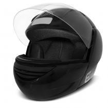 Capacete Escamoteável EBF E08 Robocop Preto Brilhante - Ebf capacetes