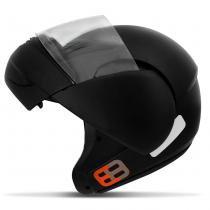 Capacete Escamoteavel Robocop EBF E8 Preto Fosco - Ebf capacetes