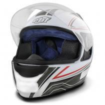 Capacete Fechado EBF E0X Asgard Branco e Prata - Ebf capacetes