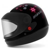 Capacete Feminino Fechado Pro Tork Sport Moto For Girl Preto - Tamanho 56 - Pro Tork