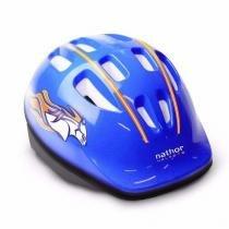 Capacete Infantil Azul Bicicleta Nathor Com Regulagem -
