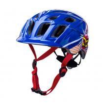 Capacete Infantil Bike Kali Chakra Power - Azul/Vermelho - (48-54 CM) -