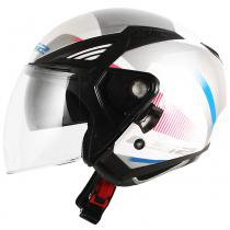 Capacete ls2 of586 bishop tyrell white/violet - 53/54 - XS - Ls2