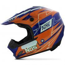 Capacete Motocross Pro Tork Th1 Nos Ns7 Azul e Laranja -