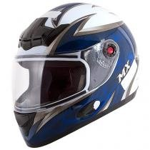 Capacete MX5 Blade Mixs Branco e Azul - Tam. 60