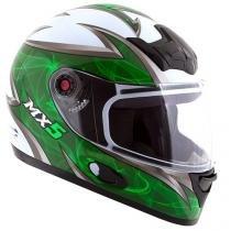 Capacete MX5 Blade Mixs Branco e Verde - Tam. 60