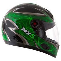 Capacete MX5 Blade Mixs Preto e Verde -