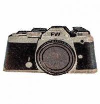 Capacho Pvc Câmera Preta - Rockcine