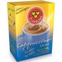 Cappuccino Solúvel 3 Corações Light Caixa com 10 Sachês 140 g - 3 coracoes
