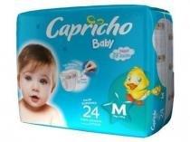 Capricho Baby Prática Fralda Infantil M C/24 -