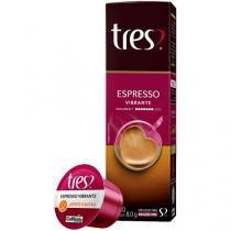 Cápsula de Café Expresso 3 Corações Vibrante TRES - 10 Unidades