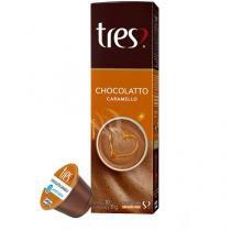 Cápsula de Chocolate 3 Corações - Chocolatto Caramello TRES 10 Unidades