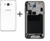 Carcaca Aro Com Botoes Lateral Galaxy J7 J700  Tampa Branco - Samsung