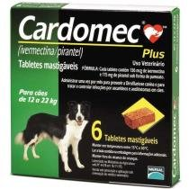 Cardomec Plus 12 a 22kg Merial (verde) 6 tabs mastigaveis -