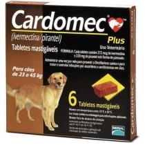 Cardomec Plus 23 a 45kg Merial (marrom) 6 tabs mastigaveis -