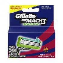 Carga Gillette Mach3 Sensitive Leve 3 Pague 2 -