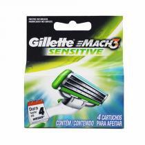 Carga Mach 3 Sensitive com 4 Cartuchos - Gillette - Gillette