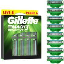 Carga Para Aparelho De Barbear Gillette Mach3 - Sensitive 8 Unidades