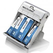 Carregador de Pilhas 2xAA + 2xAAA + Saída USB CB073 - Multilaser - Multilaser