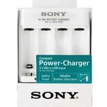 Carregador de Pilhas AA AAA Micro USB Portatil Bcg-34hhu - Sony
