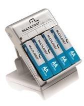 Carregador de Pilhas c/ 4 Pilhas AA RM02 Multilaser - CB054 -