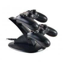 Carregador duplo vertical para controle ps4 dock station charge - Willhq